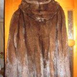 Полушубок (натуральная норка с капюшоном). Фото 1. Киров.
