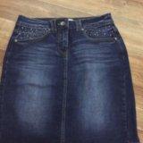 Юбка джинса tom tailor. Фото 3.