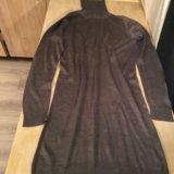 Платье-водолазка средне-серого цвета, m. Фото 1.