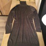Платье-водолазка средне-серого цвета, m. Фото 4.