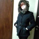 Зимнее пальто. шерсть, натуральный мех. Фото 1. Москва.