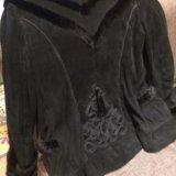 Куртка замшевая с отделкой из норки 44-46. Фото 2. Подольск.