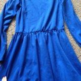 Трикотажное платье, воротник с райетками. Фото 2.