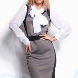 Строгое деловое платье 42-48. Фото 2. Саратов.