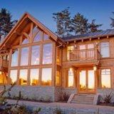 Проектирование красивых домов с каркасом из бруса. Фото 3.