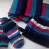 Набор (шапка, шарф, варежки открывающиеся). Фото 1. Ульяновск.