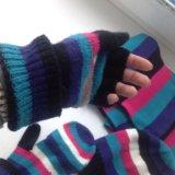 Набор (шапка, шарф, варежки открывающиеся). Фото 2. Ульяновск.