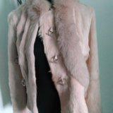 Розовая курточка-шубка из козы. Фото 1.