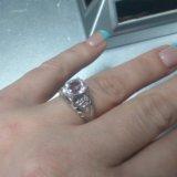 Кольцо серебро со шпинелью. Фото 1.