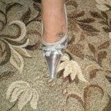 Туфельки серебро. Фото 2.