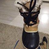 Ботинки осенние непромокаемые. тёплые.sorel.. Фото 2.