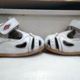 Ботинки+сандали на первые шаги 18р. Фото 2.