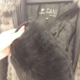 Кожаная куртка с мехом чернобурки. Фото 1. Чебоксары.