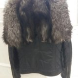 Кожаная куртка с мехом чернобурки. Фото 2. Чебоксары.