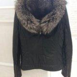 Кожаная куртка с мехом чернобурки. Фото 3. Чебоксары.
