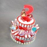 Торт из киндеров на день рождения. Фото 2. Сертолово.