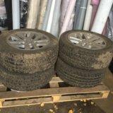 Колёса литые с зимней резины для бмв3. Фото 1.