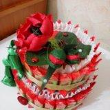 """Торт из конфет """"маки"""". Фото 1. Рязань."""