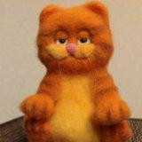 Гарфилд. игрушки из шерсти. авторская работа. Фото 1.