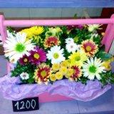 Деревянные кашпо с цветами. Фото 2.