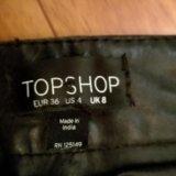 Кожаные брюки topshop оригинал. Фото 2.