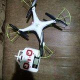 Продам квадрокоптер syma x5hc с доп акумами. Фото 1.