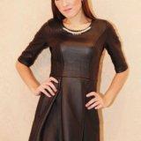 Платье . эко кожа. Фото 1.