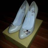 Туфли новые vero cuoio кожаные свадебные. Фото 2.