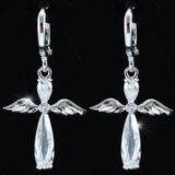 """Серьги """"ангелы"""" с кристаллами swarovski. Фото 1."""