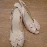 Туфли свадебные кожаные. Фото 1.