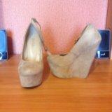 Туфли песочного цвета 35 размера. Фото 1. Нижнекамск.