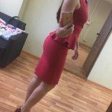Платье красное с баской новое 40-42 р-р. Фото 2. Екатеринбург.