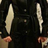 Новое кожаное пальто с мехом нерпы. Фото 3.