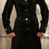 Новое кожаное пальто с мехом нерпы. Фото 4.