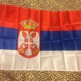 Флаг сербии. Фото 1. Москва.