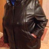 Куртка кожзам 62 размер. Фото 4.