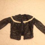 Кожаная куртка zara 4-6 лет. Фото 3.
