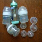 Бутылочки avent,nuby,tommee tippee. Фото 1. Руза.