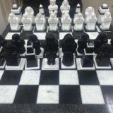 Мраморные шахматы ручной работы. Фото 1.