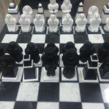 Мраморные шахматы ручной работы. Фото 2.