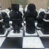 Мраморные шахматы ручной работы. Фото 3.
