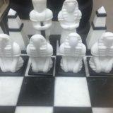 Мраморные шахматы ручной работы. Фото 4.