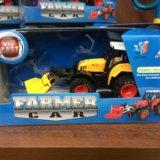 Трактор металлический с насадкой инерционный. Фото 1. Барнаул.