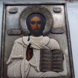 Икона серебро 84 господь вседержитель 27х22. Фото 1.