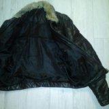 Куртка кожаная зимняя. Фото 2.