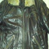 Куртка кожаная зимняя. Фото 3.