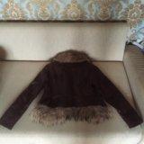 Куртка кожаная утеплённая. Фото 3. Москва.