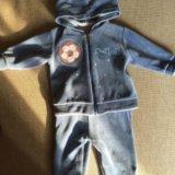 Детский новый велюровый спортивный костюм 62 р. Фото 1.
