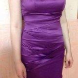 Платье фиолетовое короткое. Фото 1.