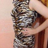 Платье туника с принтом тигра. Фото 1. Липецк.